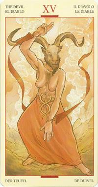 Дьявол из колоды Таро Святого Грааля