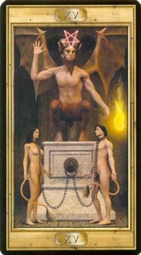 15 Дьявол из колоды Таро Универсальный Ключ