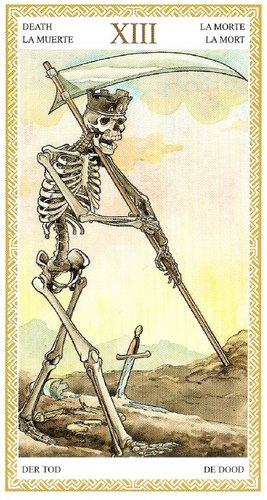 13 Аркан Смерть из колоды Таро Ло Скарабео