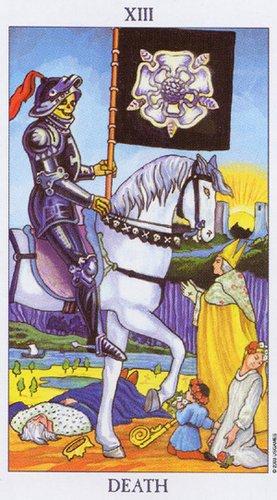 13 Аркан Смерть из колоды Radiant Rider Waite Tarot