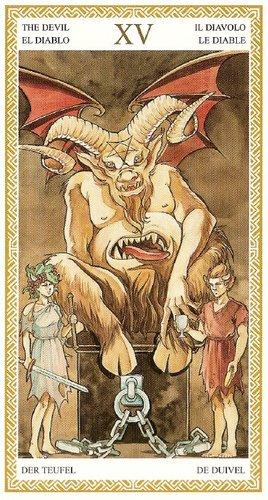 15 Дьявол Таро Ло Скарабео
