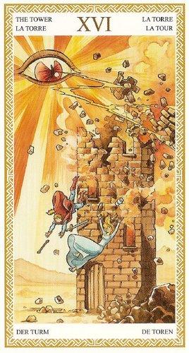 16 Аркан Башня из колоды Таро Ло Скарабео