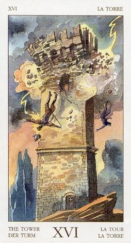 16 Аркан Башня из колоды Таро Ренессанса