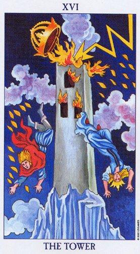 16 Аркан Башня из колоды Radiant Rider Waite Tarot
