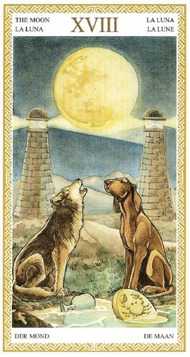 18 Аркан Луна из колоды Таро Ло Скарабео
