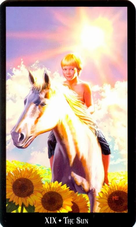19 Аркан Солнце из колоды Таро Ведьм Колдовское Таро Эллен Дуган