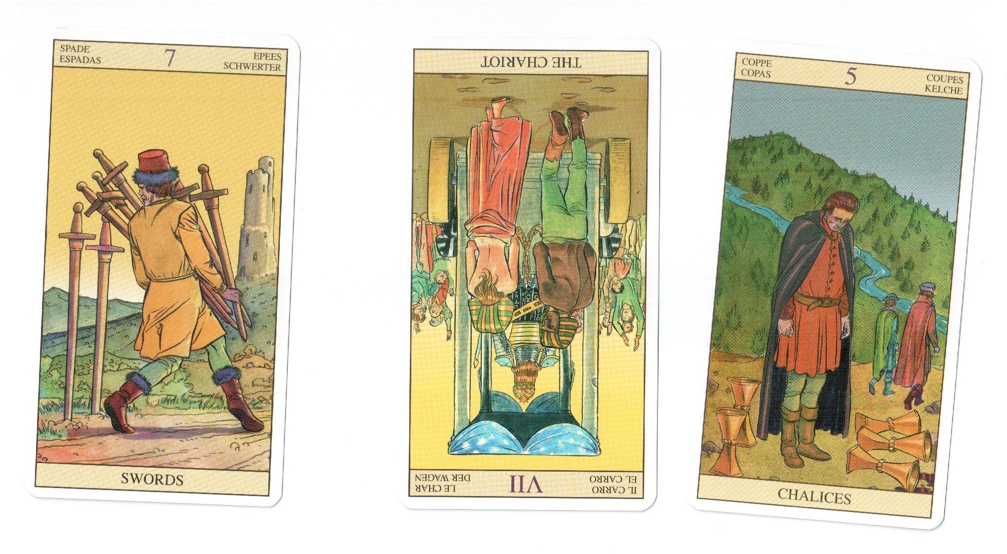 Пример простого расклада на Таро из трех карт об украденном автомобиле